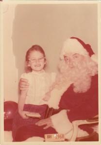 me with Santa, the half that isn't Jewish!!!!
