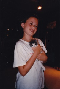 Augie with Lucy when she was a kitten