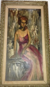 Mary Lou Rutenberg painting of my stunning mother, Evelyn Duke, 1960's