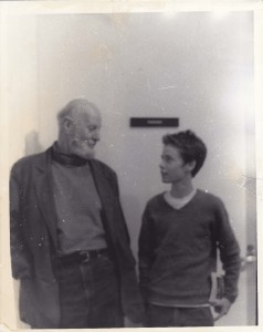 You with Lawrence Ferlinghetti