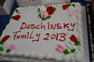 my cake for Duschinsky family reunion