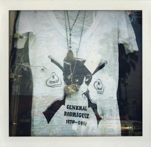 General Rodriguez t-shirts my son and I designed and sold in stores in Venice (Coutoula) and London