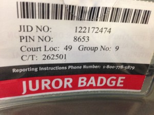 My Juror badge