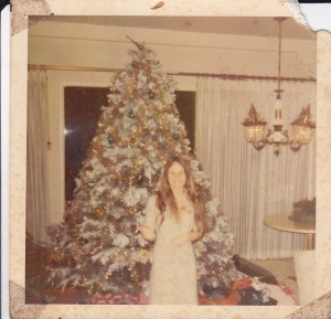 Me in 1971 in front of friends Xmas tree