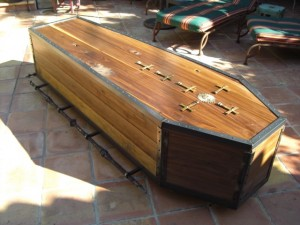 Coffin the Winter kids made for their dad