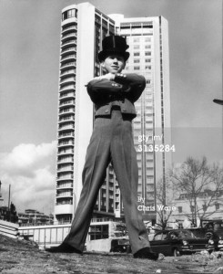 A photo of a bellboy at the London Hilton 1963
