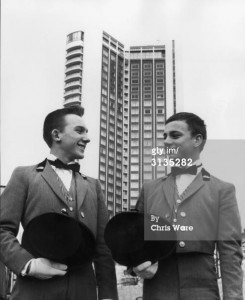 Bellboy brothers working at the London Hilton in 1963