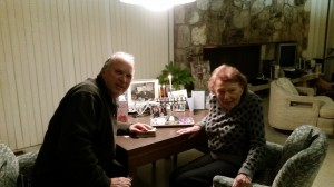 Chuck Rosin with his mom, Helen 98 years old!