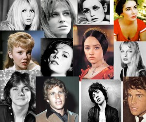 collage of famous 60s people