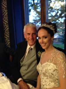 Beautiful bride Juliana Tyson and her father Bruce Tyson